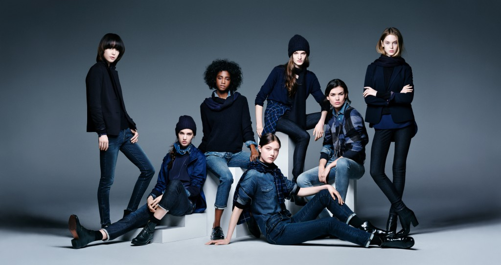 UNIQLO Women's Denim Campaign Visual