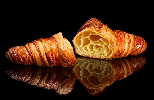 Croissant halved