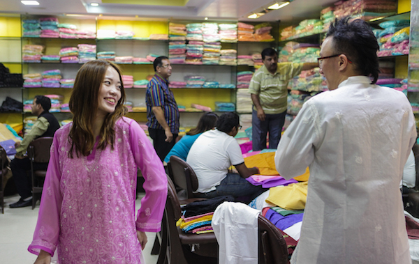 Incredible India Sari Shopping