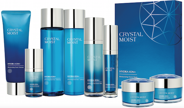 Crystal Moist Hydra ION+ Skincare range