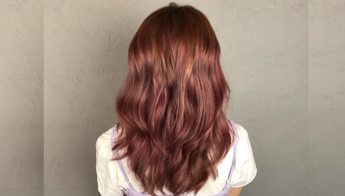 Black Hair Salon Review: Rose Gold Hair Color
